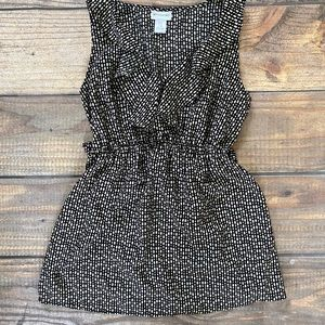 Black and White Maternity Tank
